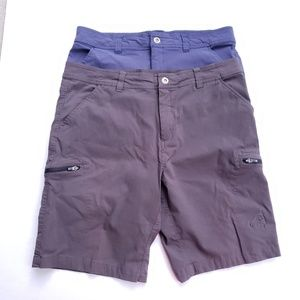 Lot of 2 Gerry Cargo Shorts Size 38 Brown Blue